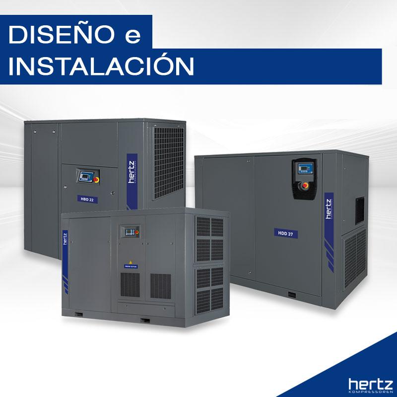 diseño e instalación de aire comprimido