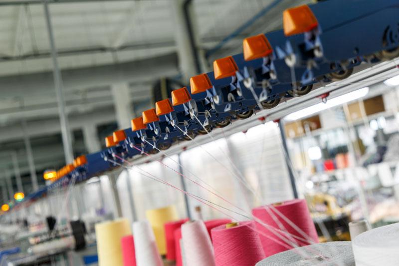 aire comprimido en industria textil