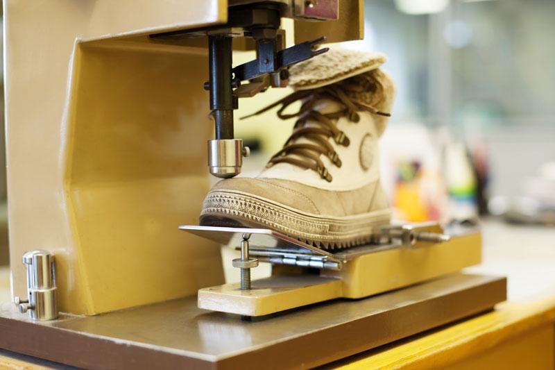 aire comprimido en sector calzado